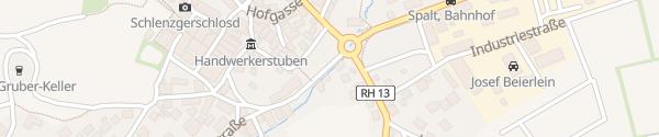 Karte Gasthof-Hotel 'Bayerischer Hof' Spalt