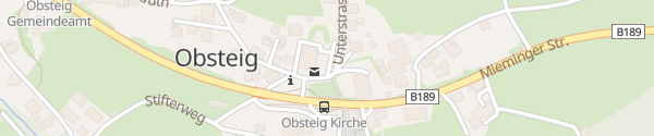 Karte Destination Charger Landhotel Stern Obsteig