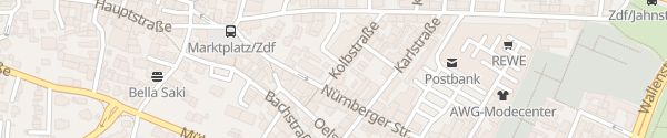 Karte Kolbstraße Zirndorf