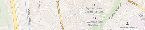 Karte Untere Anlage Coburg