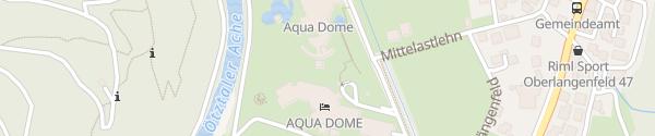 Karte Aqua Dome Thermenparkgarage Längenfeld