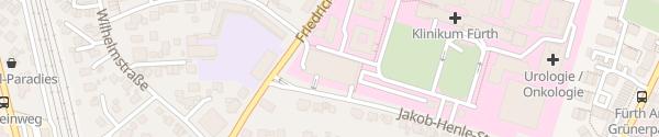 Karte Parkhaus Klinikum Fürth