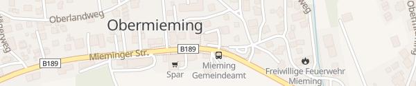 Karte Raiffeisenbank Telfs-Mieming Obermieming