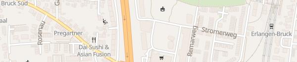 Karte Brucklyn Parkhaus Erlangen