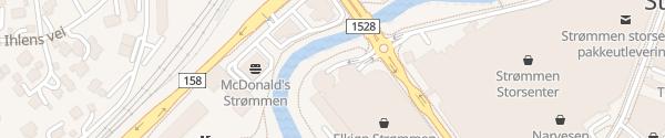 Karte Strømmen Storsenter P-hus Stasjonsveien Strømmen