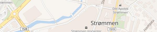 Karte Strømmen Storsenter P-hus ny senterdel Strømmen