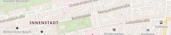 Karte Bohlenplatz Erlangen