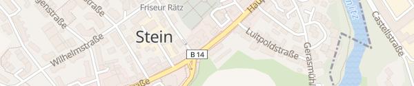 Karte Bio-Hotel Kunstquartier Stein Stein