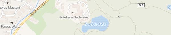 Karte Hotel am Badersee Grainau