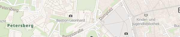 Karte Parkhaus Domplatz Erfurt