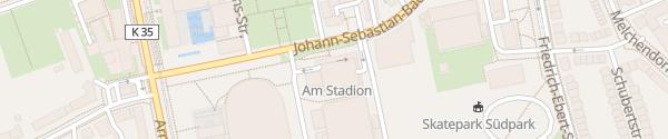 Karte Parkhaus Am Stadion Erfurt