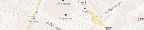 Karte Maxi Storsenter Hamar