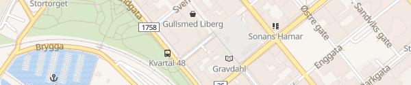 Karte Parkhaus Torggata Hamar