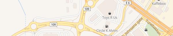 Karte McDonald's Alvim Sarpsborg