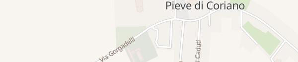 Karte Via Gorgadelli Pieve di Coriano