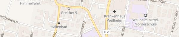 Karte Murnauer Straße Weilheim