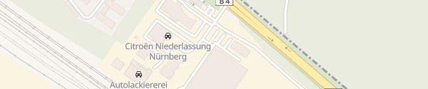 Karte BMW Niederlassung Nürnberg Filiale Fischbach Nürnberg