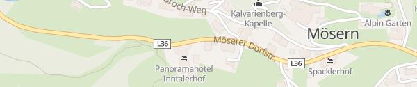 Karte Panoramahotel Inntalerhof Seefeld