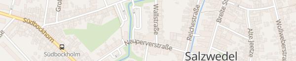 Karte Parkplatz Sparkasse Salzwedel