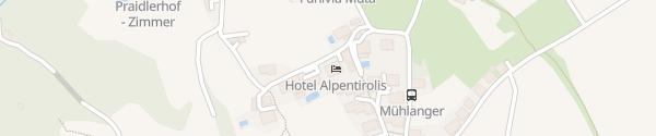 Karte Hotel Alpentirolis Dorf Tirol