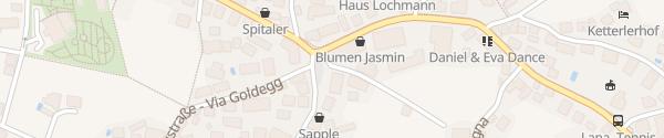 Karte Tribusplatz Lana