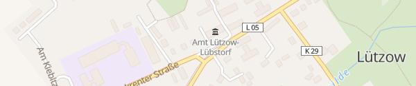 Karte Dorfmitte Lützow