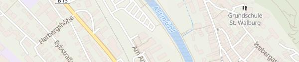 Karte Freiwasserparkplatz Eichstätt