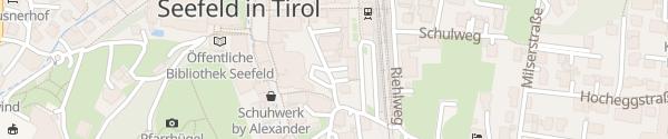 Karte Krumers Post Hotel Seefeld