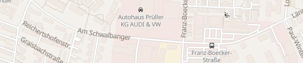 Karte VW Autohaus Prüller Neuburg an der Donau