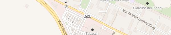 Karte Via Emilio Lepido Bologna