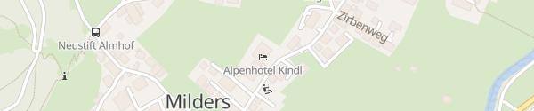 Karte Alpenhotel Kindl Neustift