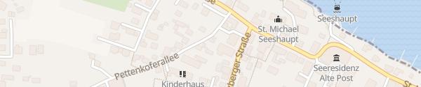 Karte Hotel Sterff Seeshaupt