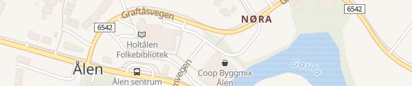 Karte Ålen Sentrum Ålen