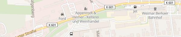 Karte Markthalle Weimar