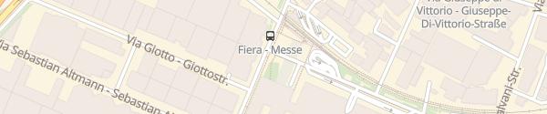 Karte aew Ladesäule an der Messe (Fiera di Bolzano) Bolzano