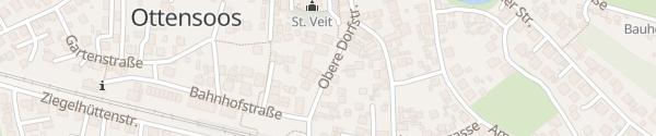Karte Obere Dorfstraße Ottensoos