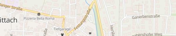 Karte Parkplatz Festungsstraße Schnaittach