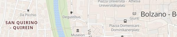 Karte Freie Universität Bozen Bozen