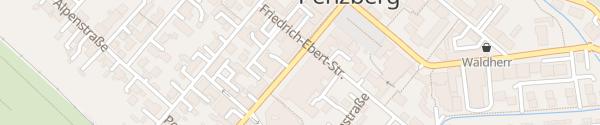 Karte Bahnhofstraße Penzberg