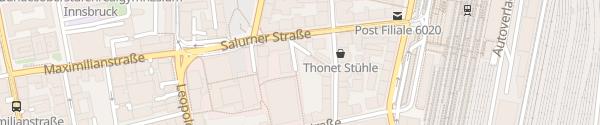 Karte Innsbrucker Kommunalbetriebe AG Innsbruck