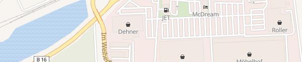 Karte Dehner IngoPark Ingolstadt