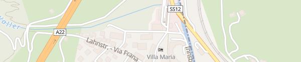 Karte Boutiquehotel Steindls Vipiteno