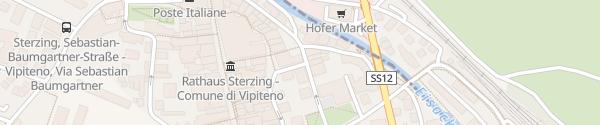 Karte Via Dante Alighieri Vipiteno