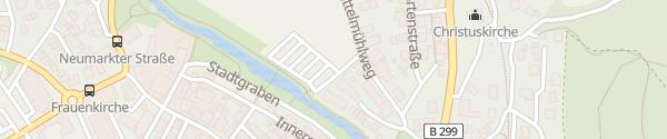 Karte Parkplatz Mittelmühle Beilngries