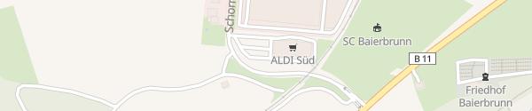Karte ALDI Süd Baierbrunn