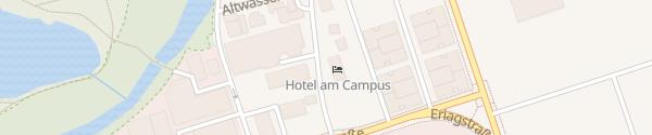 Karte Hotel am Campus Ingolstadt