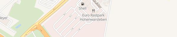 Karte Tesla Supercharger Euro Rastpark Hohenwarsleben