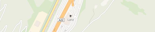 Karte Raststätte Lanz Plessi Museum Brennero