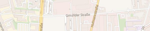 Karte Gmunder Straße München
