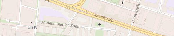 Karte Citadines Arnulfpark München